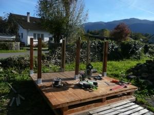 recupfactory pau décoration vintage bois palette tuto cabane enfant sur mesure avec terrasse en palette de récupération