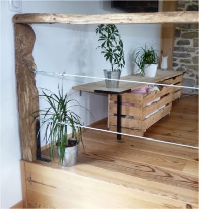 recupfactory pau décoration vintage bois palette tuto détails estrade cable style industriel et rétro
