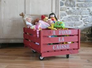 recupfactory pau décoration vintage bois palette caisse en bois de récupération recyclée en caisse à jouets customisée