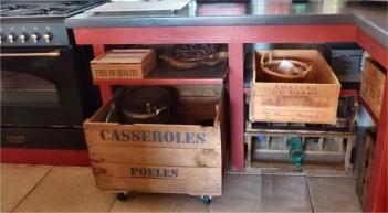 recupfactory pau décoration vintage bois palette cuisine rétro avec caisses bois de récupération
