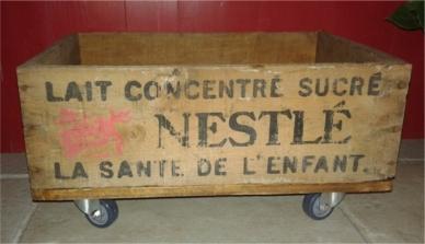 recupfactory pau décoration vintage bois palette caisse rétro vintage devient garde manger mobile
