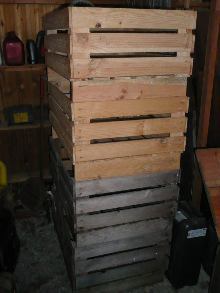 caisse pomme pour future creation recupfactory d coration r cup ration vintage industriel. Black Bedroom Furniture Sets. Home Design Ideas