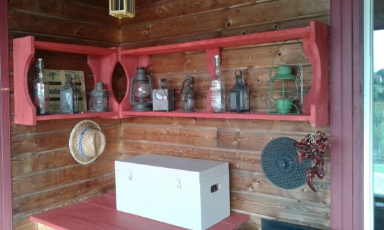 recupfactory pau décoration vintage bois palette tuto étagères planches naturelles pour mise en valeur décorations