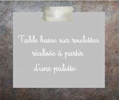 Tuto table basse palette