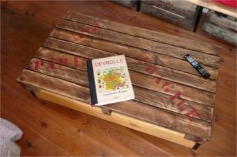 recupfactory pau décoration vintage bois palette table basse bois palette décor vintage rétro customisé