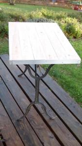 recupfactory pau décoration vintage bois palette table bistrot vintage pieds fonte et bois palette de récupération