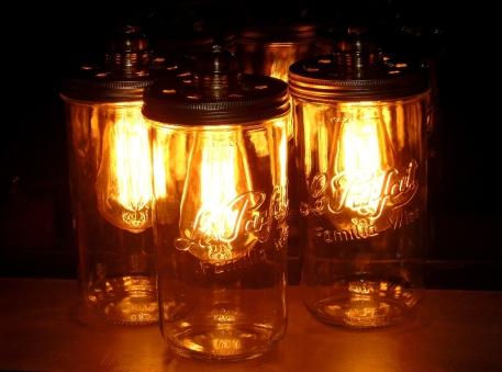 lampe vintage bocal le parfait ampoule filament édison recup factory couleur chaude