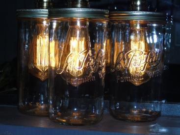 lampe vintage bocal le parfait ampoule filament édison recup factory blanche
