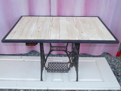 table tuto pied de machine à coudre vintage factory 4 couverts