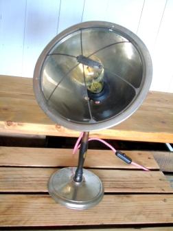 lampe de chauffage toilectro relookee lampe d'ambiance ampoule edison pied en bois luminaire vintage recupfactory