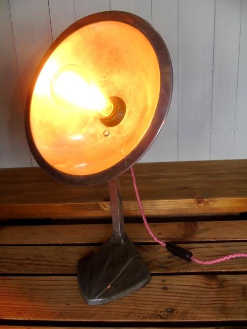lampe de chauffage cobra relookee lampe d'ambiance ampoule edison pied ceramique luminaire vintage recupfactory