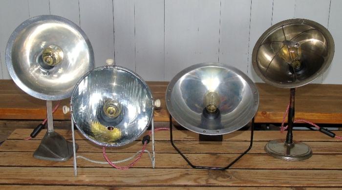 lampe de chauffage type calorifere relookee lampe d'ambiance ampoule edison luminaire vintage recupfactory