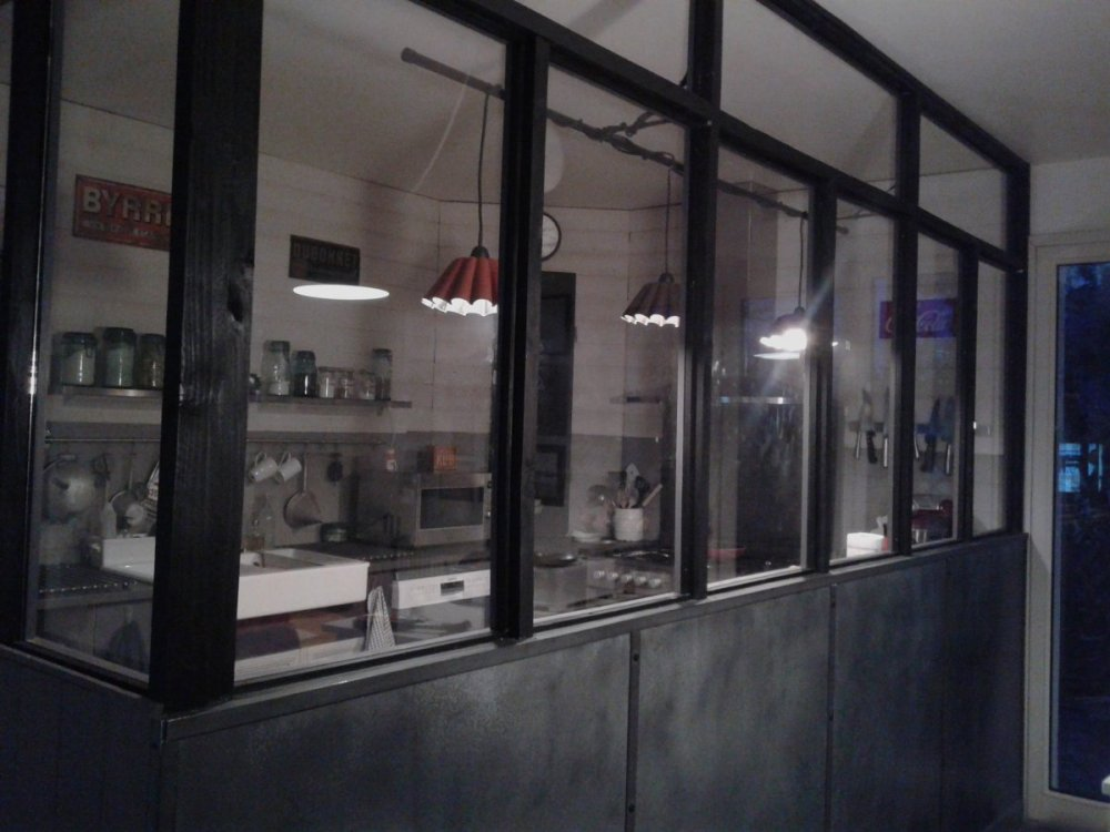 verriere cuisine bois indus retro deco zinc 8