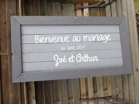 panneau mariage customisation recup palette