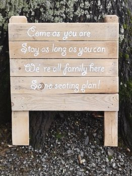 message mariage customisation recup palette nature
