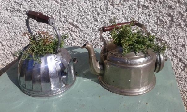 cafetière ancienne recyclage décoration récup vintage