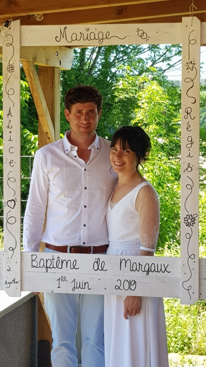 weeding mariage photocall bois palette personnalisation