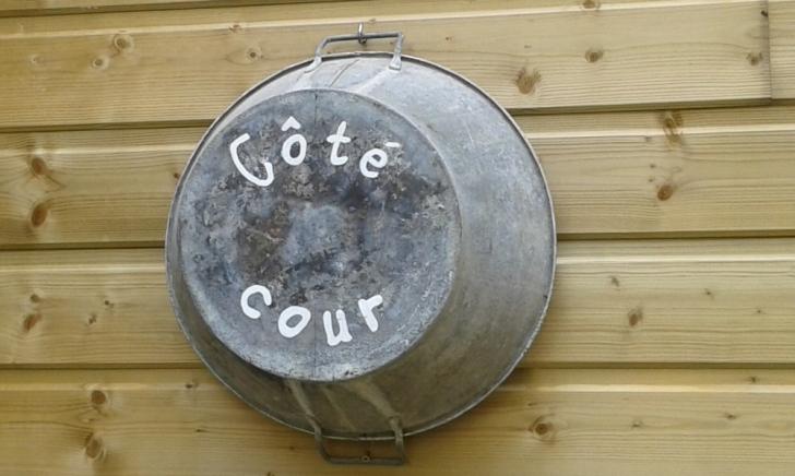 décoration vintage bassine de récup personnalisée