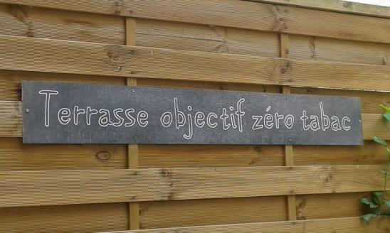 plaque de zinc personnalisée pour déco de restaurant