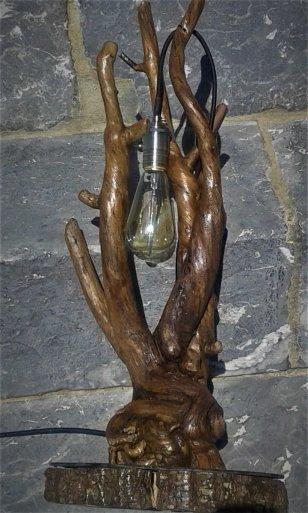 lampe racine branche edison vintage recup